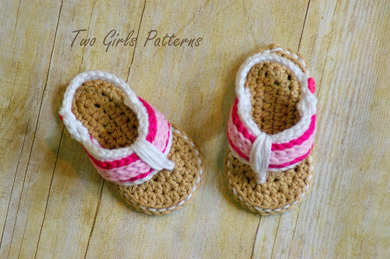 Crochet Pattern 116 Crochet Patterns For Sporty Flip Flop Etsy