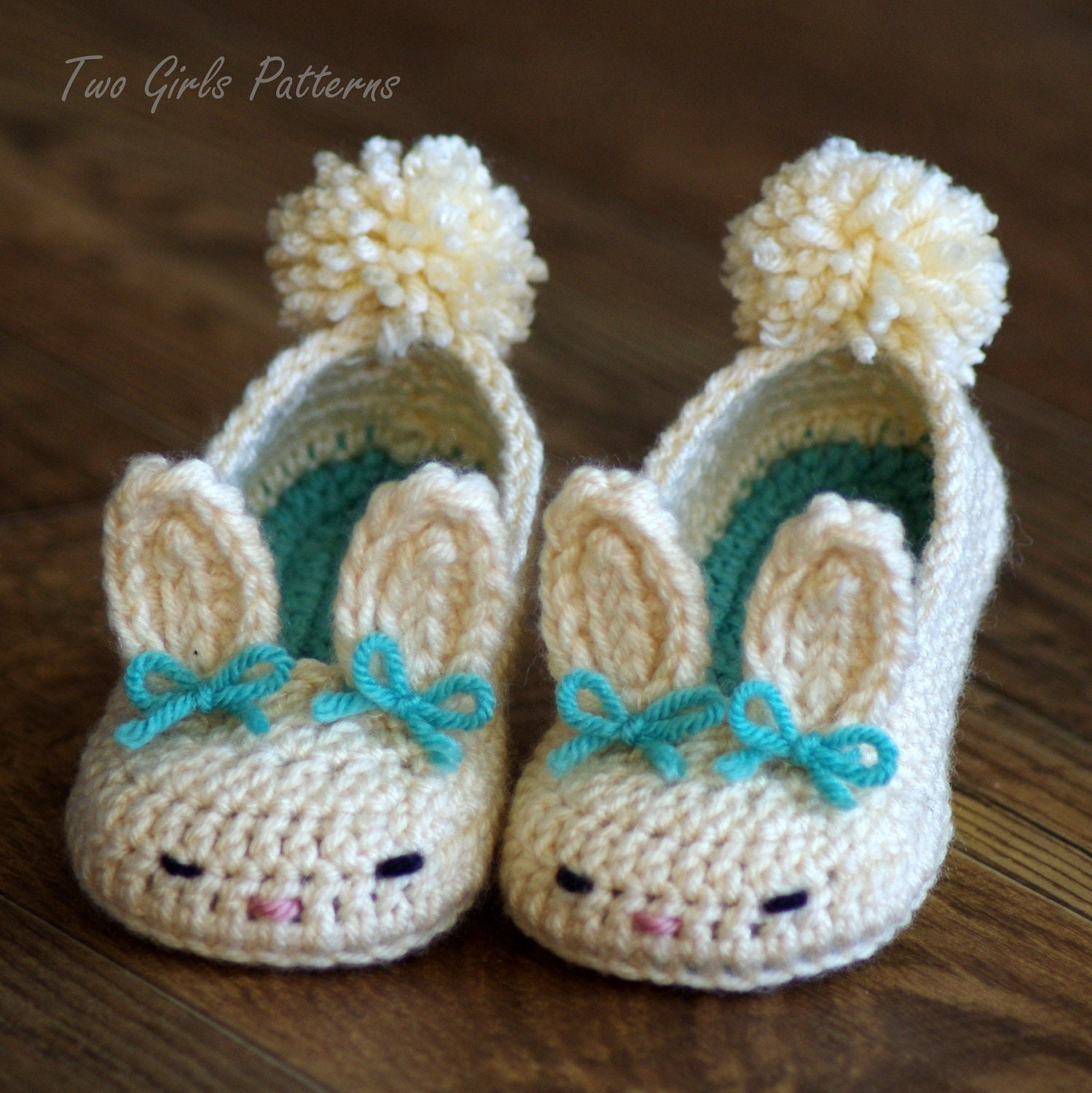 Crochet Pattern 214 Toddler Bunny Slippers The Classic Etsy