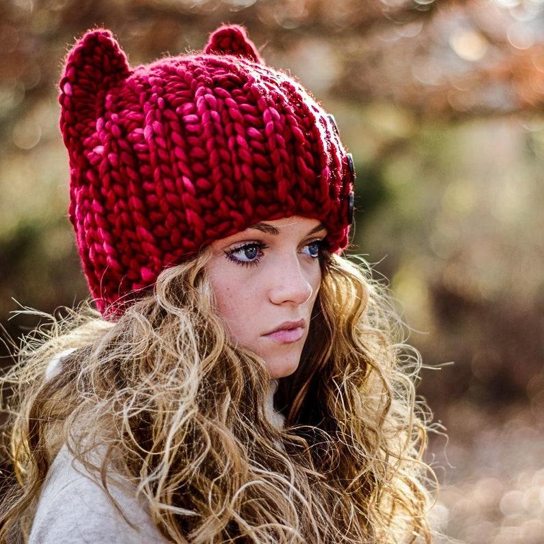 335930cc8fe CROCHET Cat Hat Pattern Super Bulky fast crochet Knit Look