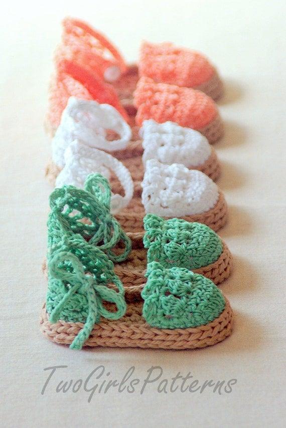 Instant download  Crochet PATTERN pdf file  Summer Sandals