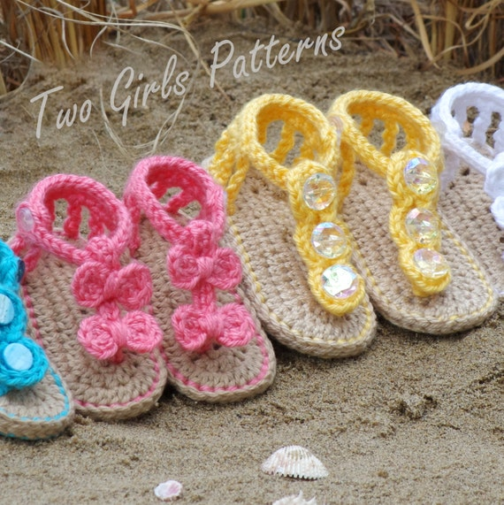 Baby Crochet Pattern Sandal 2 Versions And Free Barefoot Etsy