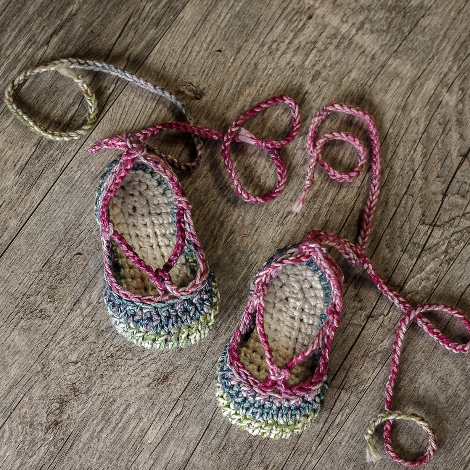 crochet pattern - strappy ballet flats - 3 variations included - baby - newborn, 3-6 and 6-12 months, instant download kc550