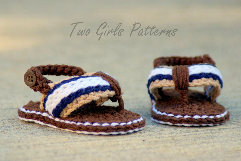 Crochet Pattern 116 Crochet Patterns For Sporty Flip Flop Etsy