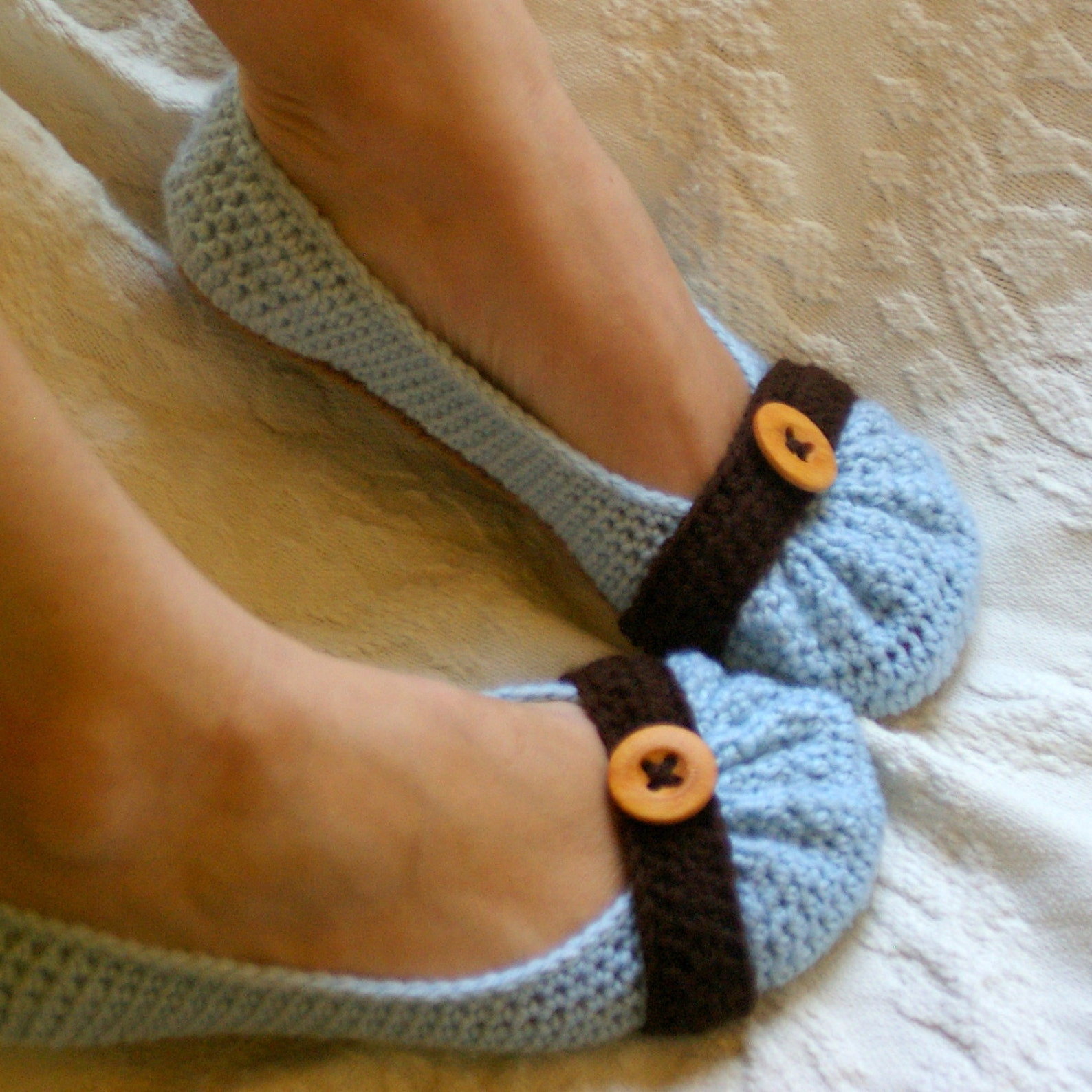 house slipper crochet pattern for cute as a button ballet flat house slippers pattern number 111 - instant download l