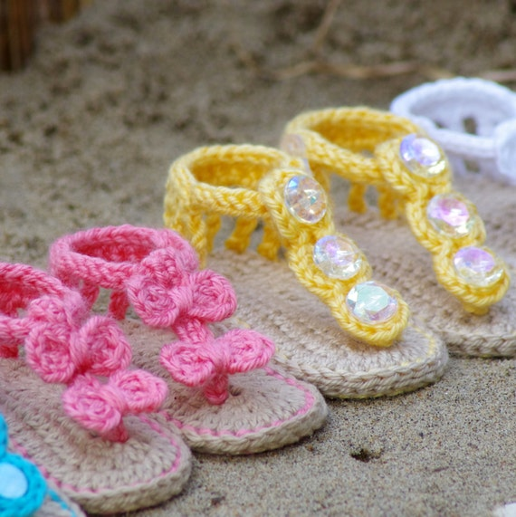 Crochet Pattern 211 Baby Sandal 2 Versions And Free Etsy