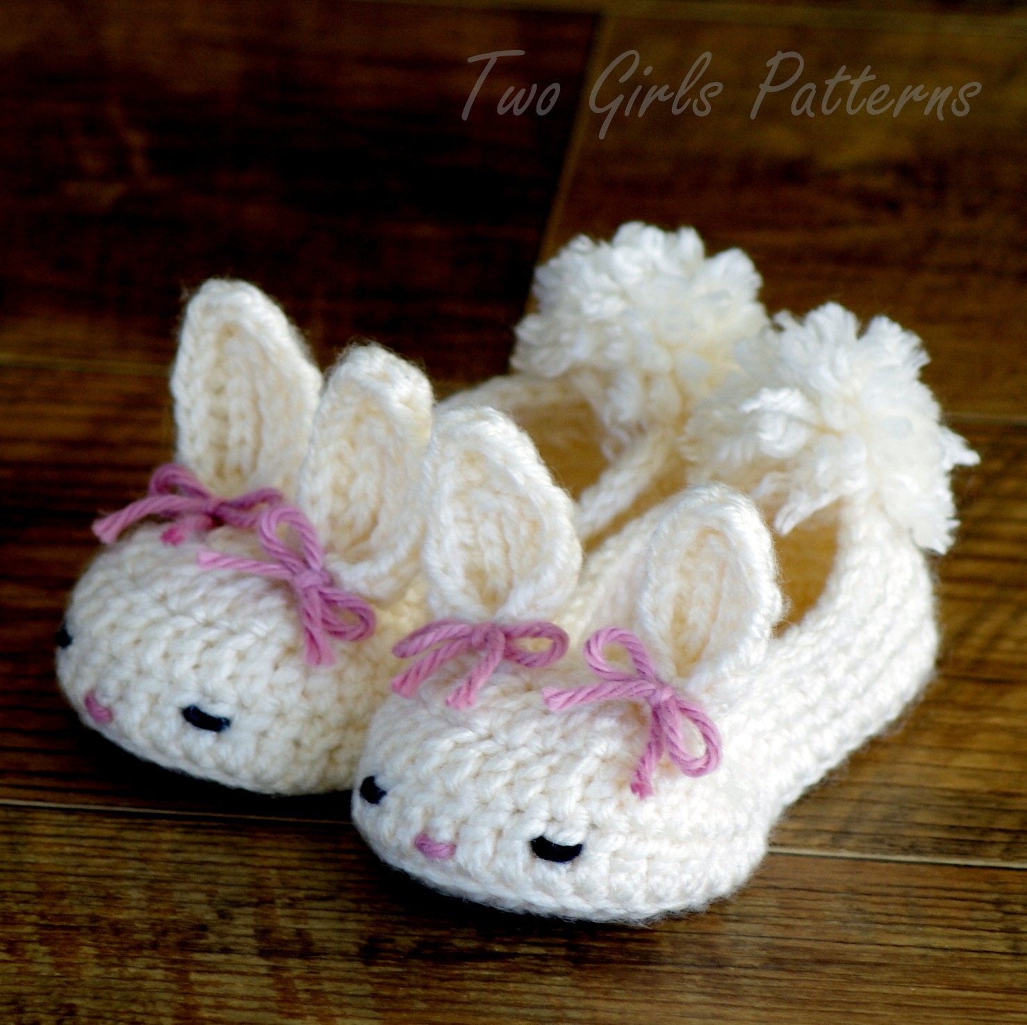 Crochet Pattern Baby Booties The Classic Year Round Bunny Etsy