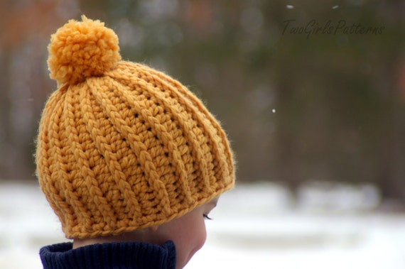 Crochet Hat Patterns Awesome Knit Look Hat five sizes  9dcae3229c3