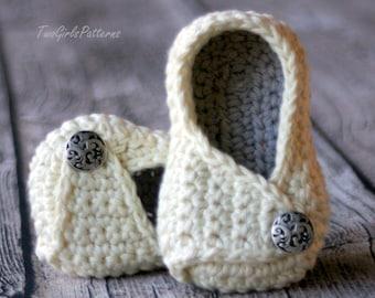 Crochet Pattern - Instant Download - boy - girl - Baby Wrap Shoe -Payton Shoe - PDF - Baby Booty pattern - baby shoe pattern