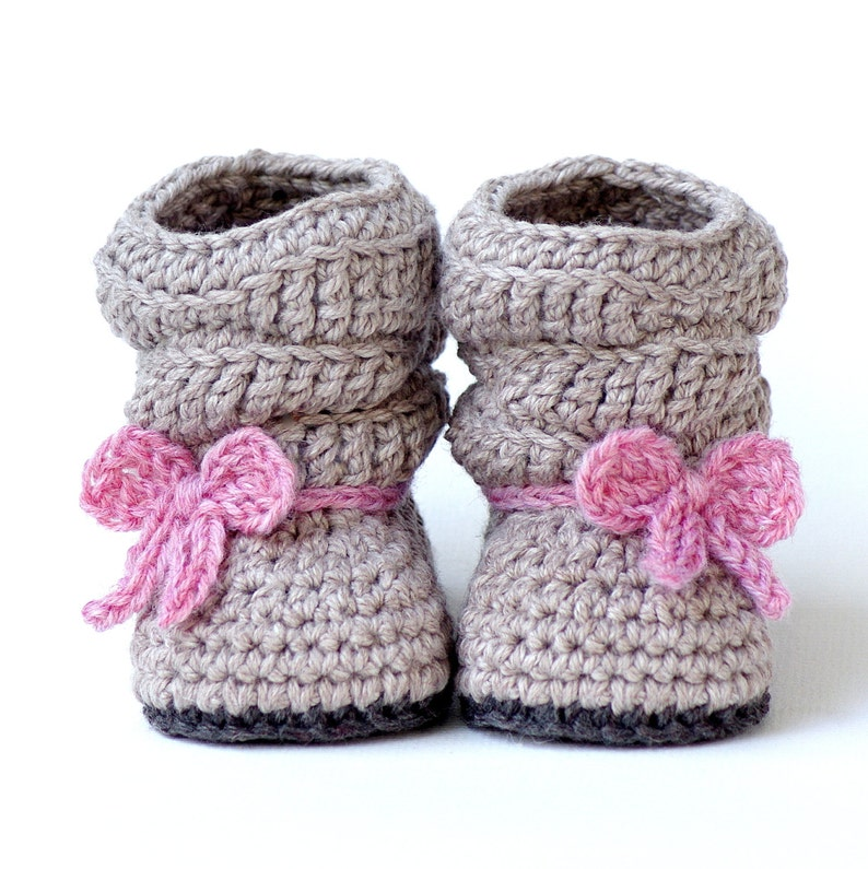 Crochet Pattern  217 Baby Slouch Boot  Mia Boot   Instant image 0