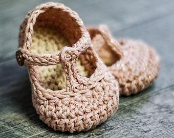 Crochet Baby Pattern Tali T-strap - Baby Crochet - 3 sizes - Newborn - 12 months - Instant Download kc550