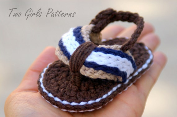 Baby Booties Crochet Pattern For Sporty Baby Flip Flop Sandals Etsy