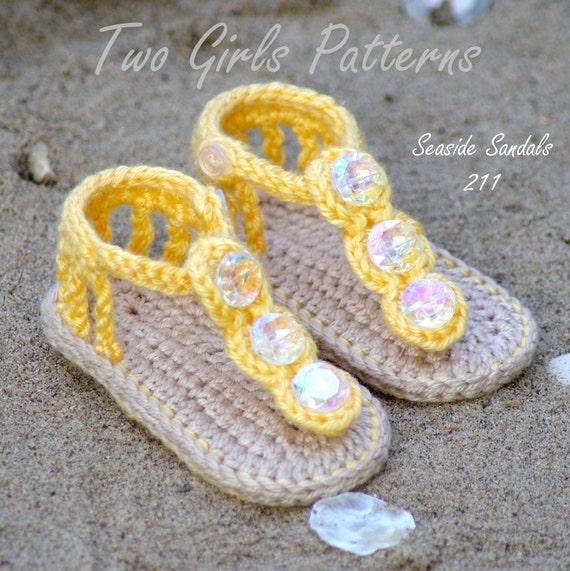 Crochet Baby Pattern Sandals Free Barefoot Sandal Pattern Etsy