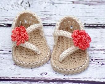 Crochet Baby Pattern Sandals - Carefree Sandals number 219 Instant Download kc550