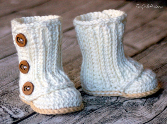 Crochet Pattern 112 Baby Wrap Boot Instant Download Pdf Etsy