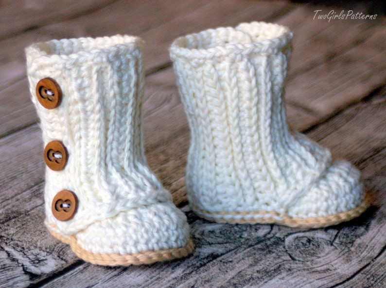 Crochet Pattern 112 Baby Wrap Boot    Instant Download  PDF image 0