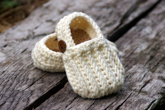 Baby Booties Crochet Pattern Easy On Loafers Knit Look Etsy