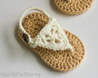 Crochet Baby Pattern - Boho Sandals -Crochet Pattern - Baby Crochet - Instant download - pdf file - baby sizes