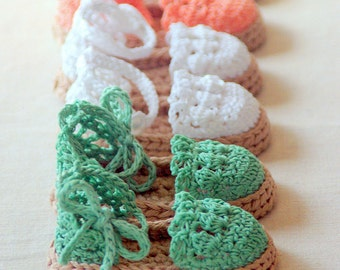 Instant download - Crochet PATTERN (pdf file) - Summer Sandals - Espadrille 119 L