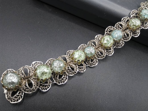 1940's chunky vintage bracelet collectible costume