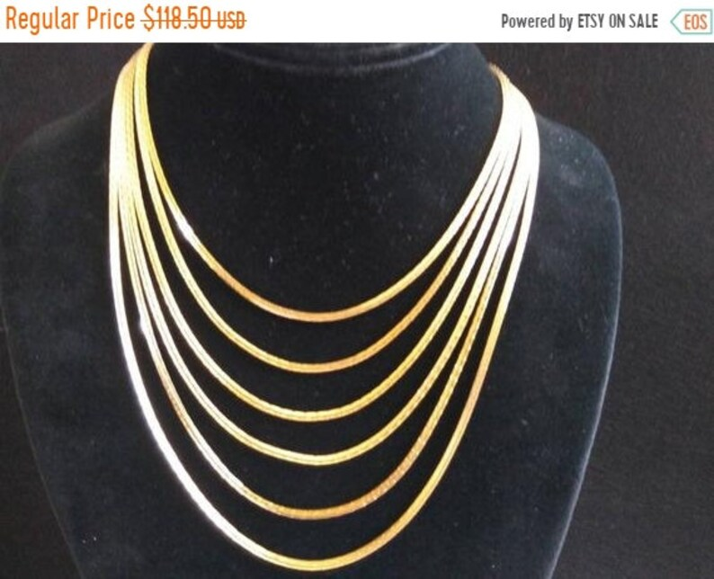 Trifari Statement Necklace  Vintage Runway Necklace  image 0