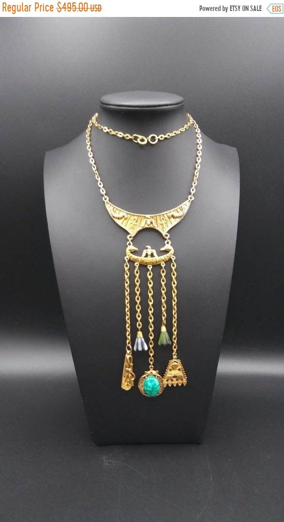 Art designer signed vintage Egyptian Revival penda