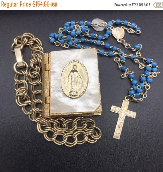 1950s religious mother Mary mother of pearl book … - image 1