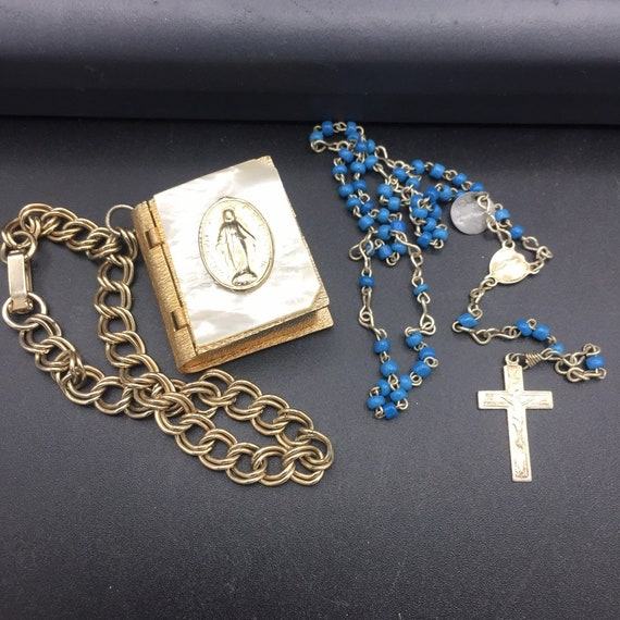 1950s religious mother Mary mother of pearl book … - image 3