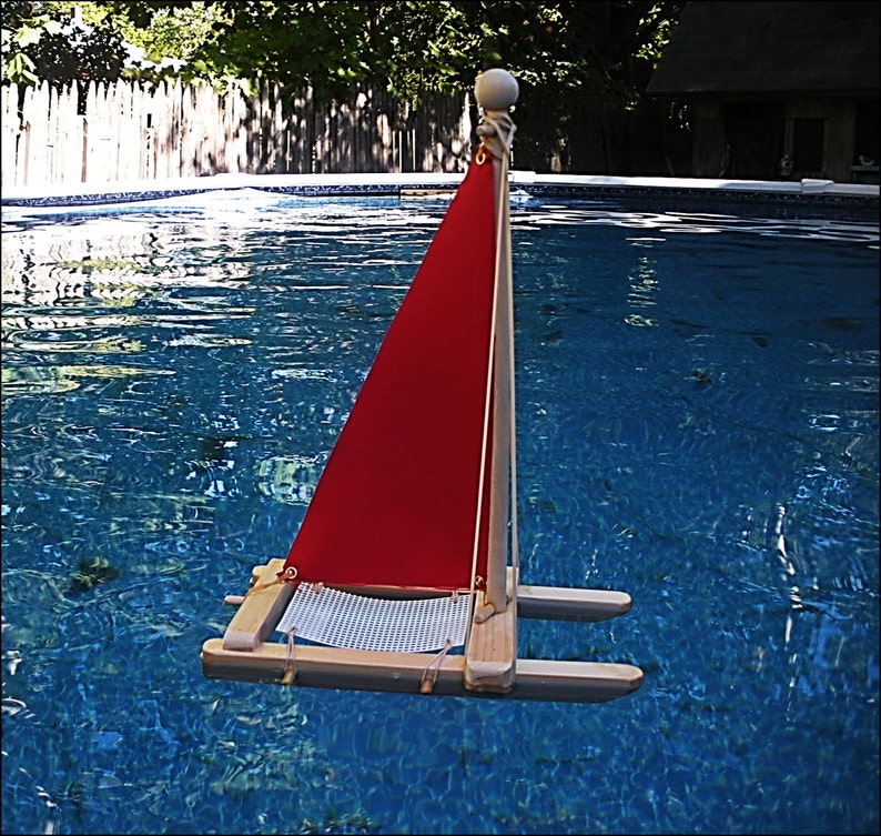 SAILBOAT KIT,Red Sailboat,Wooden Toy Boat,Sailboat,Easter Gift,Pool Toy,Birthday Party,Wood Boat,Toy Boat,Kit,DIY Boat Kit,Wholesale,Party
