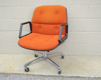 knoll office chairs australia ergonomic office pollock knoll style office arm chair orange tweed brown back mid century rolls spins tilts swivels american retro chrome allsteel eames swivel chair etsy