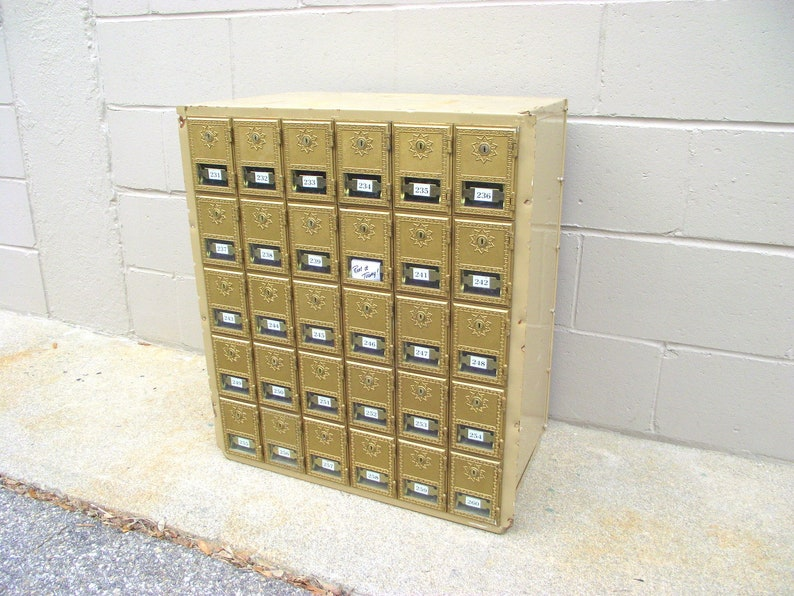 Post Office Box Mail Po Boxes Brass Gold Doors Wine Rack Etsy