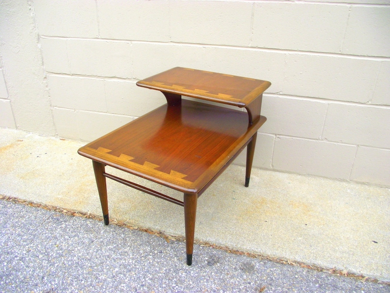Brilliant Lane Acclaim Table 2 Tier Step Back End Side Table Dovetail Style Mid Century Modern Danish Modern Furniture American Retro 121 Evergreenethics Interior Chair Design Evergreenethicsorg