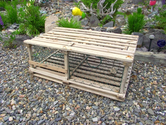 Miraculous Sale Weathered Wooden Lobster Trap Coffee Table Nautical Maine Beach Coastal Marine Decor Original Complete Marina Dock Rustic Ocean Sea 1 Andrewgaddart Wooden Chair Designs For Living Room Andrewgaddartcom