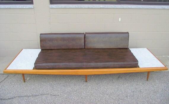 Pleasing Sale Mid Century Modern Adrian Pearsall Platform Sofa Couch With Floating Marble End Tables Gondola Sofa Authentic Original Retro Creativecarmelina Interior Chair Design Creativecarmelinacom