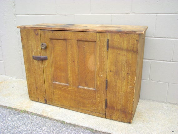 image 0 - Antique Jelly Cupboard Rustic Country Cabinet Solid Wood Etsy