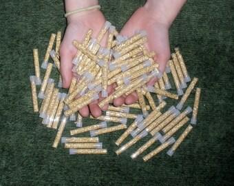 100 Gold flake vials