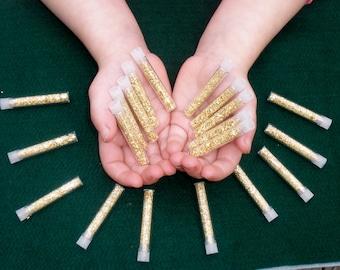 20 Gold flake vials