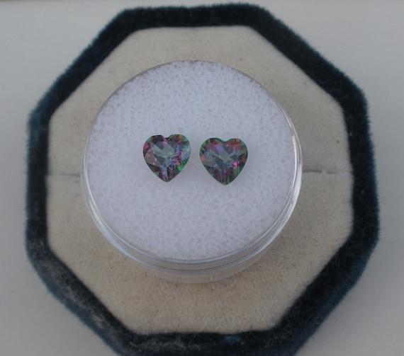 Rainbow mystic topaz heart gem 6mm