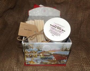 Sweet Dreams- Goat Milk Soap & Lotion Christmas Gift Set with Box