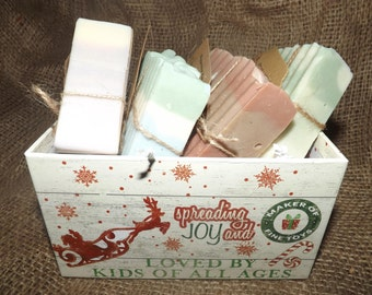 Four Favorite Goat's Milk Soaps Christmas Gift Set with Box