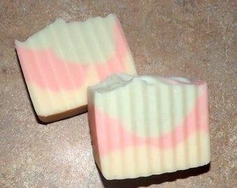 Handmade Goat's Milk Lard Soap- Sweet Pea