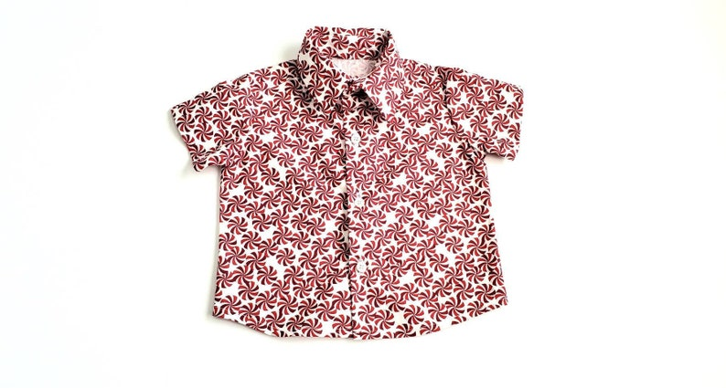 8 year old boy 4 shirts 7 for a 3 6 down 5 Peppermint boys button up shirt cute Christmas shirts size