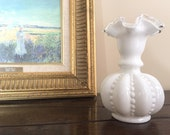 Milk Glass Vase - Fenton Glass Vases - Fenton Silvercrest Vase - White Fenton Vase - Bud Vase - Fenton Milk Glass -