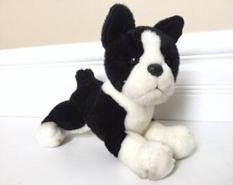 Boston Terrier Dog Stuffed Animal - Dog Plush Toy - Dog Stuffed Animal -  Vintage Dog Plushie - Dog Toy - Baby Gift for Dog Lover Gift 26292e92e928
