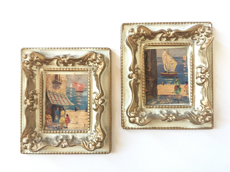 Miniatur Bilder Puppenhaus Miniaturen verzierten Rahmen | Etsy