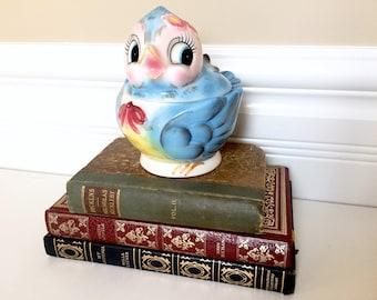 Lefton Bluebird Mayonnaise Dish - Blue Bird Jam Jar - ESD Japan Bluebird - Mid Century Vintage Kitchen Decor - PY Japan Sugar Bowl Honey Pot