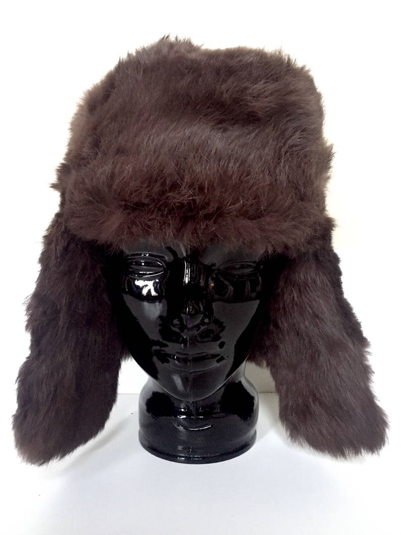 Real Fur Hat Trapper Hat for Men or Women Fur Winter Hat  9ee8aab449e9