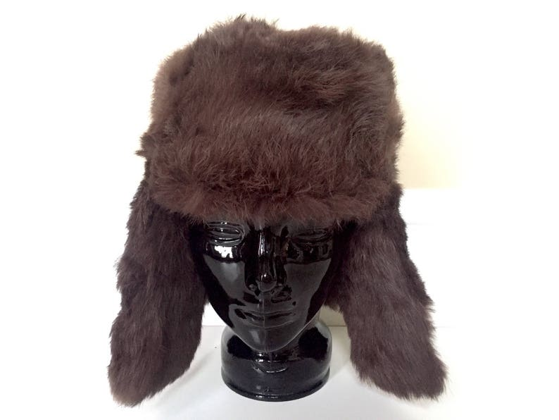 855d3d20e71 Real Fur Hat Trapper Hat for Men or Women Fur Winter Hat