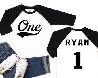 Boys Baseball Birthday Shirt First Boy 1st Clothes Outfit