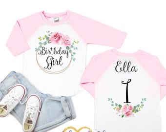 Girls Birthday Shirt Girl Clothes First