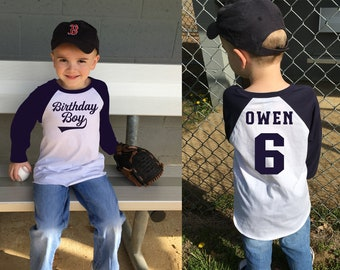 Boys Baseball Birthday Shirt Boy